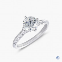 Hearts on Fire platinum 0.77ct diamond engagement ring