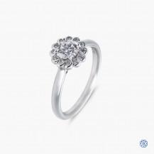 18k white gold Maple Leaf Diamond engagement ring
