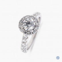 Gabriel & Co. 14k white gold 0.70ct diamond engagement ring