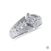 14k white gold 0.69ct Maple Leaf diamond ring