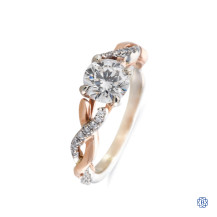 Noam Carver 14kt white and rose gold designer engagement ring