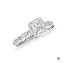 Tacori 18kt White Gold 0.90ct Maple Leaf Diamond Engagement Ring
