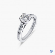 Gabriel & Co. 14k white gold 0.90ct diamond engagement ring