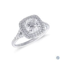 Simon G 18kt White Gold 1.03ct Canadian Diamond Engagement ring