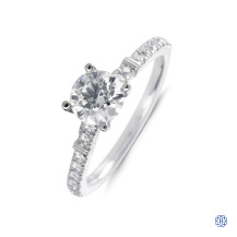 Hearts on Fire platinum diamond engagement ring