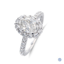 14k white gold 1.20ct oval diamond ring