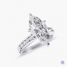 18k white gold 3.50ct diamond engagement ring
