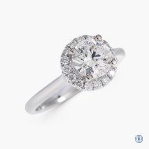14kt white gold 0.93ct Swarovski Lab Created Diamond Engagement Ring