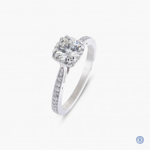 18kt White gold Tacori Dantela 0.73ct Diamond Engagement Ring