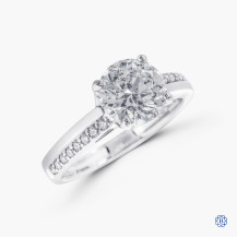 18kt white gold 1.65ct Maple Leaf Diamonds Engagement Ring