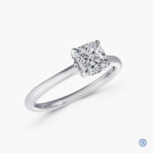 18kt white gold 1.00ct Maple Leaf Diamond Engagement Ring