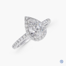 14kt white gold 1.00ct Maple Leaf Diamond Engagement Ring