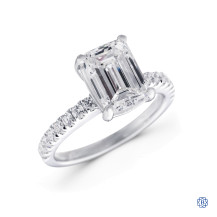 14kt white gold lab created diamond engagement ring