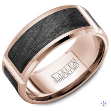 Carlex Gold with Black Carbon Wedding Band