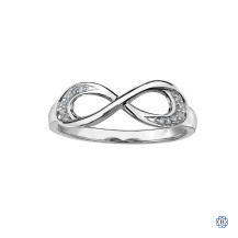 10kt White Gold Infinity Diamond Ring