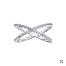 10kt Gold Diamond X Ring
