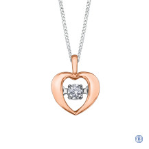 10kt Rose Gold Pulse Diamond Heart Necklace