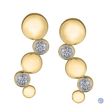 10kt Yellow Gold 0.10ct Diamond Earrings