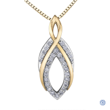 10kt White and Yellow Gold Diamond Necklace