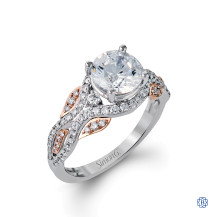 Simon G 18kt white and rose gold Diamond Engagement ring
