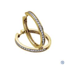 Dazzling 10kt Gold Diamond Hoop Earrings