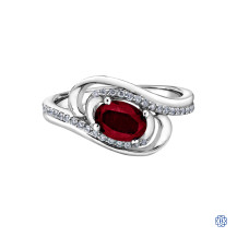 10kt White Gold Ruby and Diamond Ring