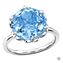 10kt White Gold Sky Blue Topaz Ring
