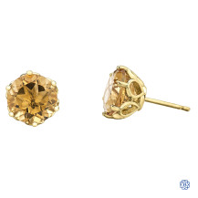 10kt Yellow Gold Citrine Earrings