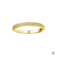 10kt Gold Trendsetting Stackable Diamond Bands