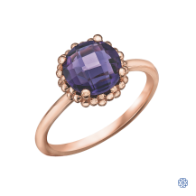 10kt Rose Gold Amethyst Ring