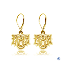 Hamilton Tiger-Cats 10kt Yellow Gold Drop Earrings