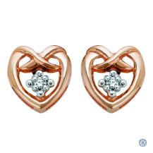 10kt Rose Gold Canadian Diamond Earrings