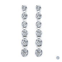 14kt White Gold 1.00ct Diamond Earrings