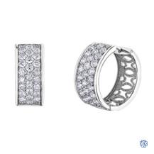 Diamond Envy 10kt White Gold Diamond Hoop Earrings