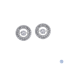 10kt White Gold Pulse Diamond Earrings