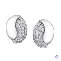 10kt White Gold 0.28ct Diamond Earrings