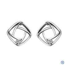 10kt White Gold Canadian Diamond earrings