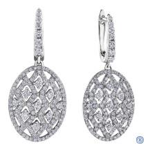 10kt white gold diamond drop earrings