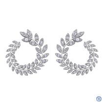 10kt white gold diamond earrings