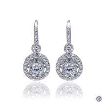 Gabriel & Co. 14kt White Gold Diamond Drop Earrings