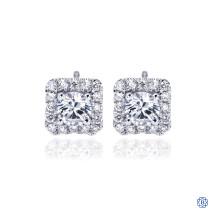 Gabriel & Co. 14kt White Gold Diamond Square Stud Earrings