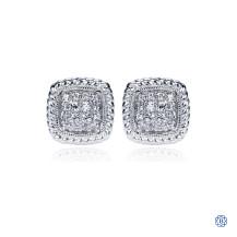Gabriel & Co. 14kt White Gold Diamond Stud Earrings