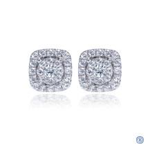 Gabriel & Co 14kt White Gold Diamond Stud Earrings