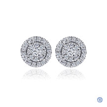 Gabriel & Co. 14kt White Gold Diamond Stud Earrings