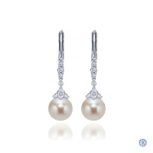Gabriel & Co. 14kt White Gold Diamond Pearl Earrings