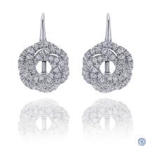 Gabriel & Co. 14kt White Gold Diamond Drop Earrings