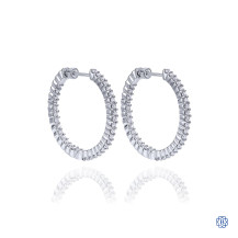 Gabriel & Co. 14kt White Gold Diamond Hoop Earrings