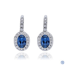 Gabriel & Co. 14kt White Gold Sapphire Diamond Earrings