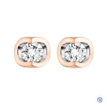 10kt Rose Gold 0.06ct Tension Set Diamond Earrings