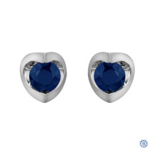10kt White Gold Sapphire Stud Earrings